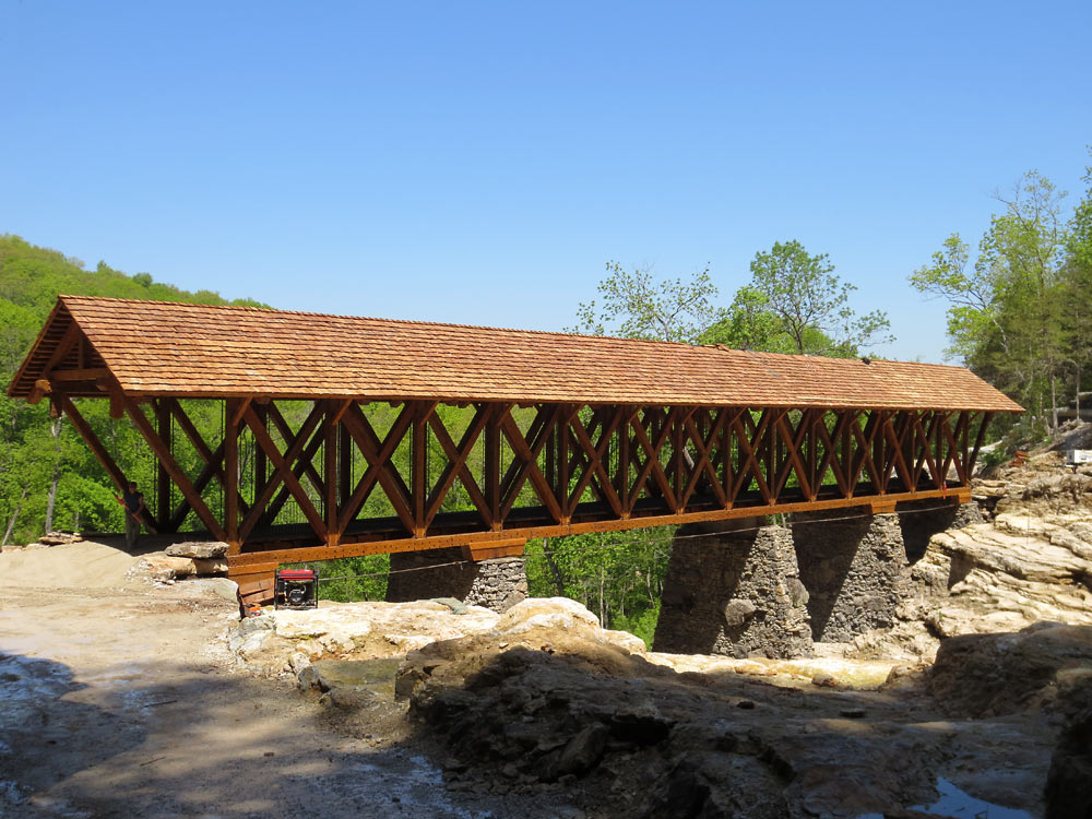 Pillars joy studio design gallery photo for Timber frame bridge