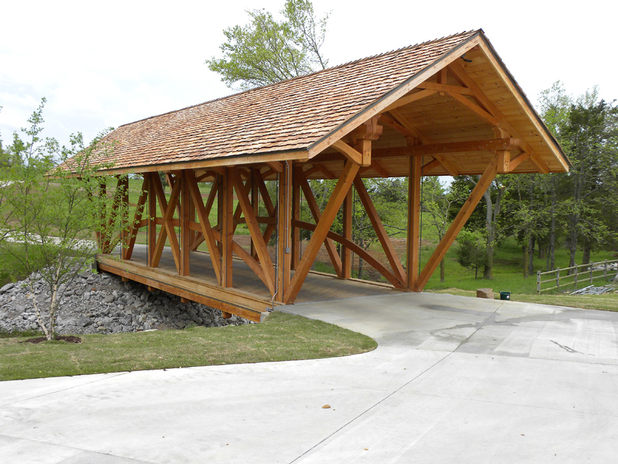 Ozark timber frame past projects for Timber frame bridge